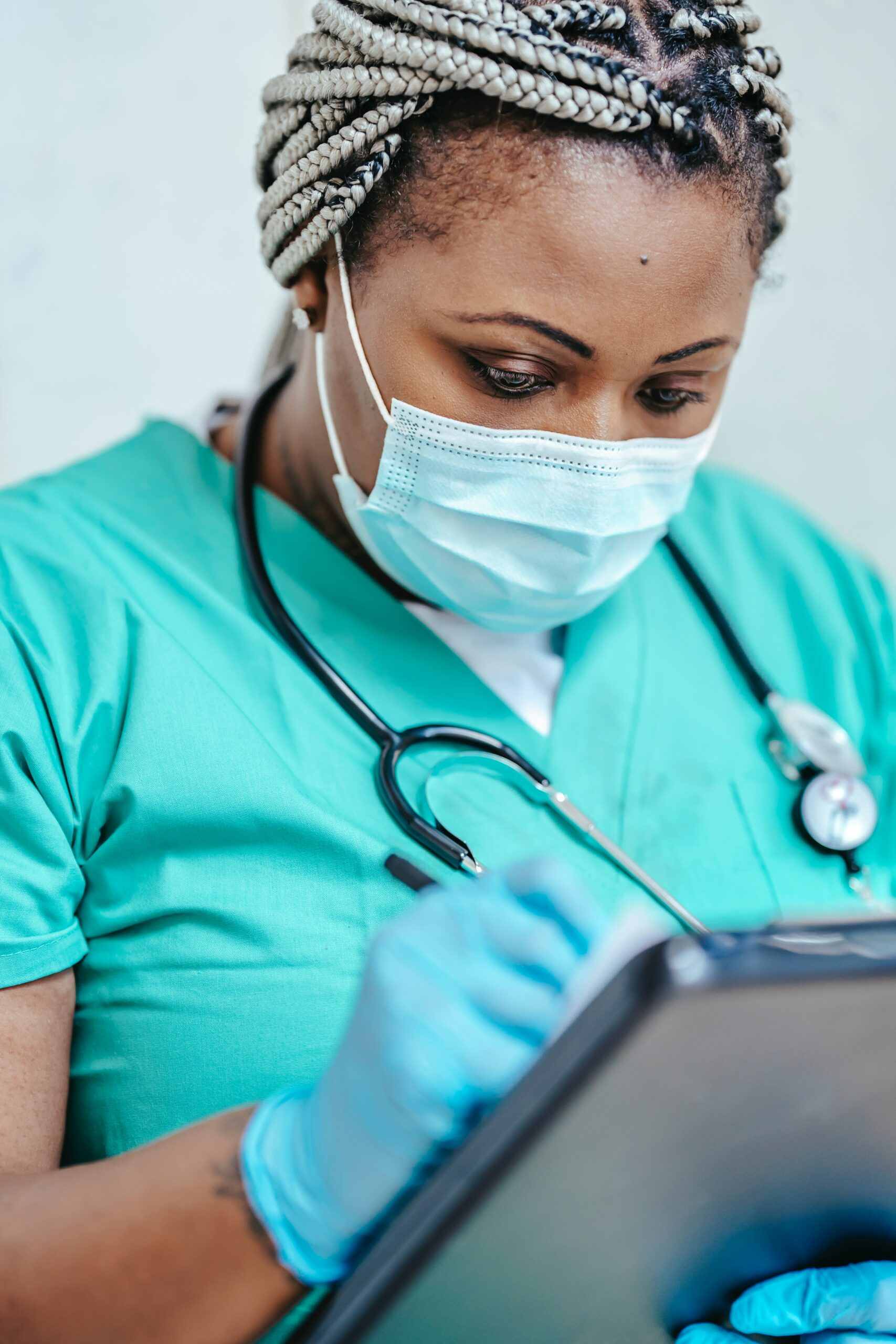 nurse busy with